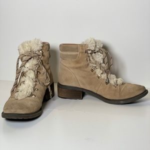 Sam Edelman Taupe Suede Boot 8.5